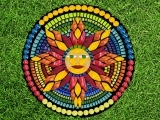 """EC-08-01 to 08-29 Stained Glass Mosaics """" Here Comes the Sun"""""""