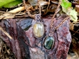 Wirework Necklace with Stone Pendant