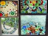 Framed Mosaic Sun-catcher