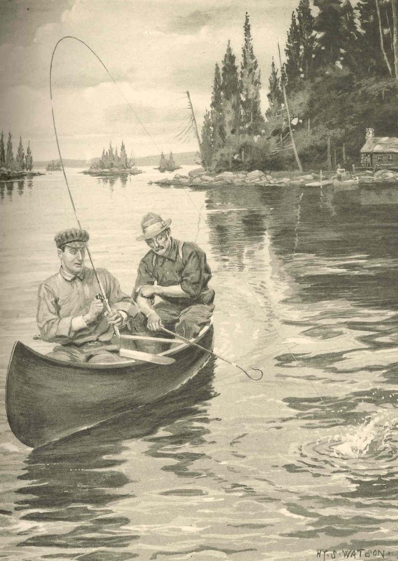Original source: https://upload.wikimedia.org/wikipedia/commons/0/01/FMIB_41946_Thousand_Islands%2C_St_Lawrence_River--a_Maskalonge_Hooked_and_Coming_to_Gaff.jpeg