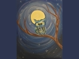 Masterpieces and Messages Little Owl in the Moonlight Spring 2020