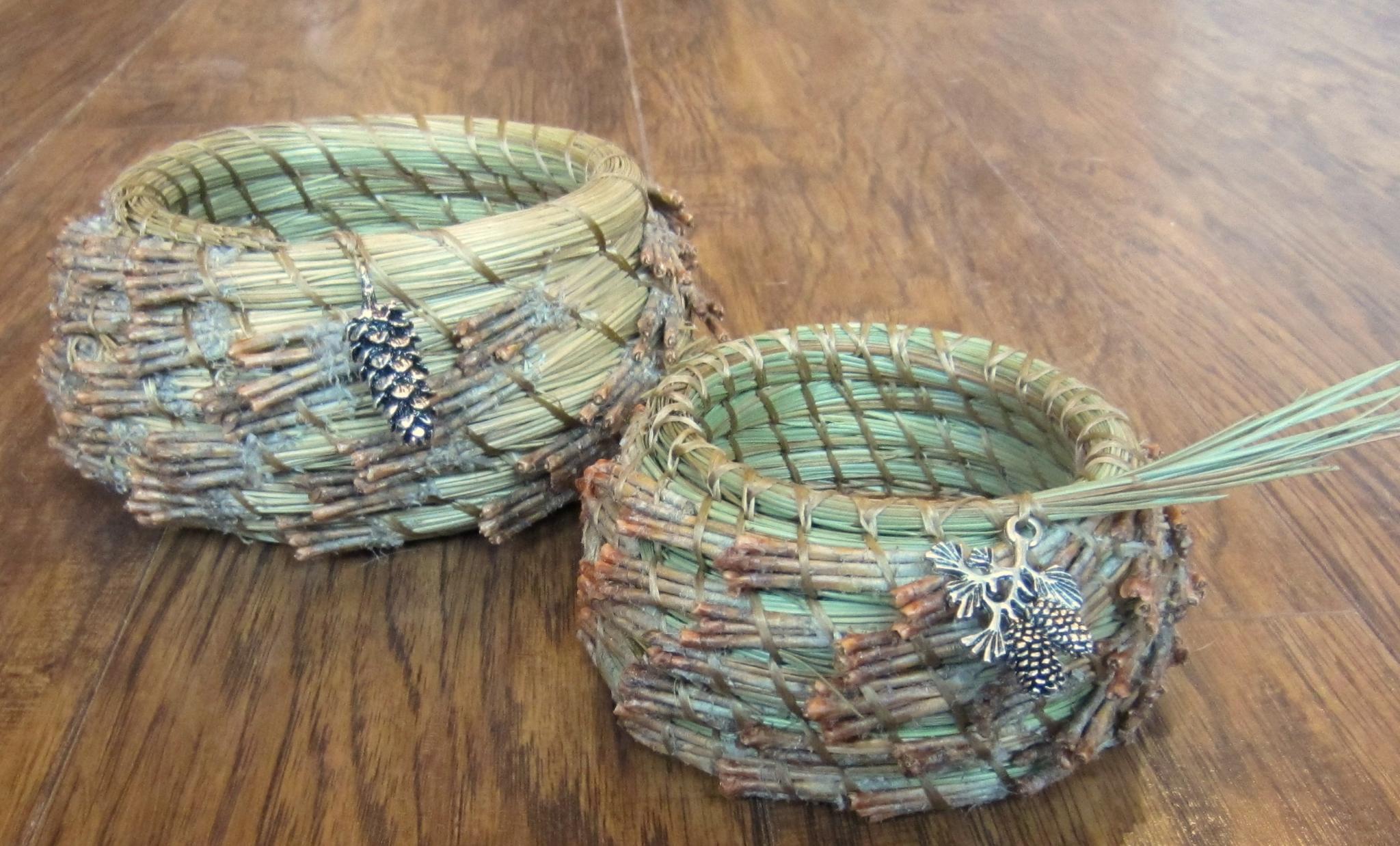 Pine Needle Basketry-Whole Needle