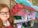 Wooden Dollhouse, Furniture & Accessories Crafting Camp Summer 2021
