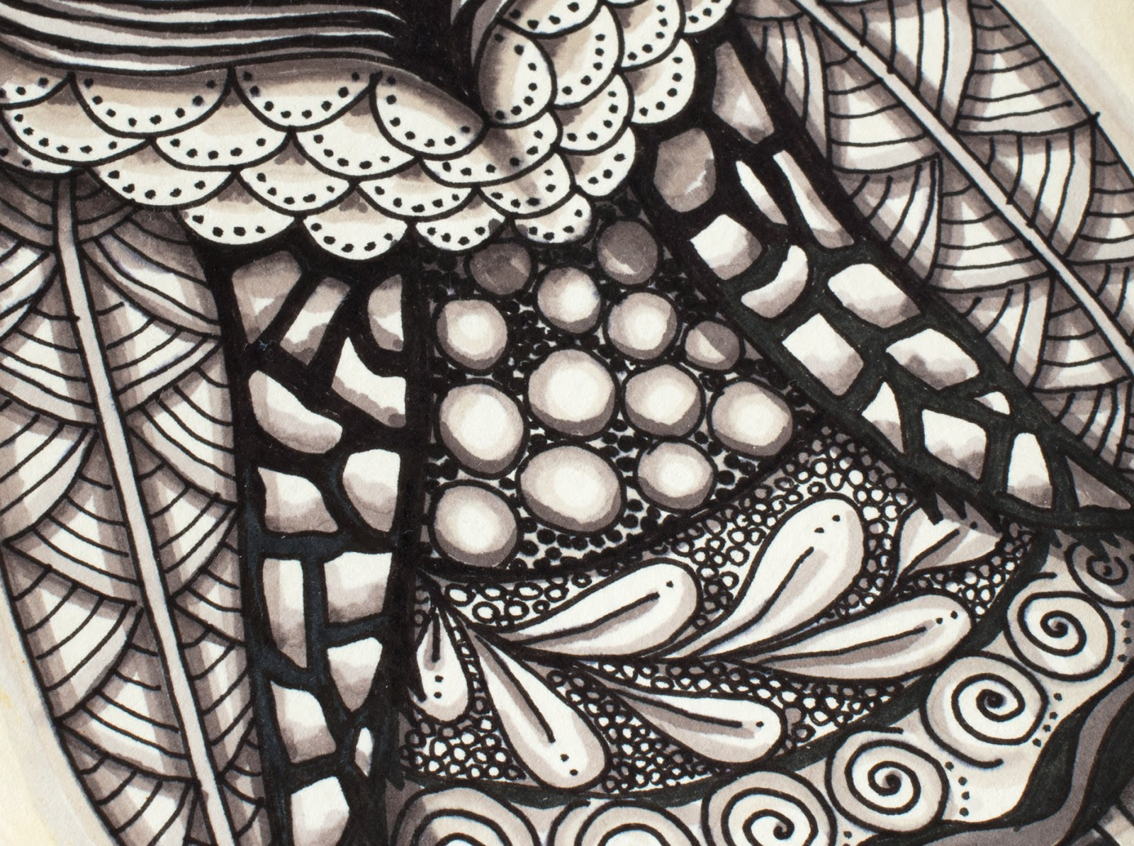 Evening Zentangle - Session 4