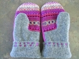 Re-purposed Sweater Mittens March - Spring 2018