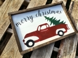 Paint a Vintage Holiday Sign