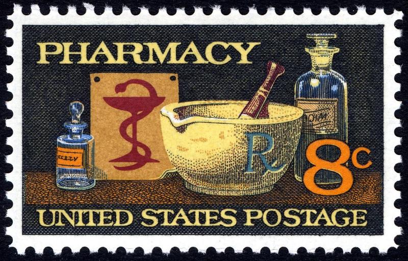 Original source: https://upload.wikimedia.org/wikipedia/commons/thumb/1/1b/Pharmacy_8c_1972_issue_U.S._stamp.jpg/1280px-Pharmacy_8c_1972_issue_U.S._stamp.jpg