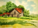 Watercolor Painting: House Portrait