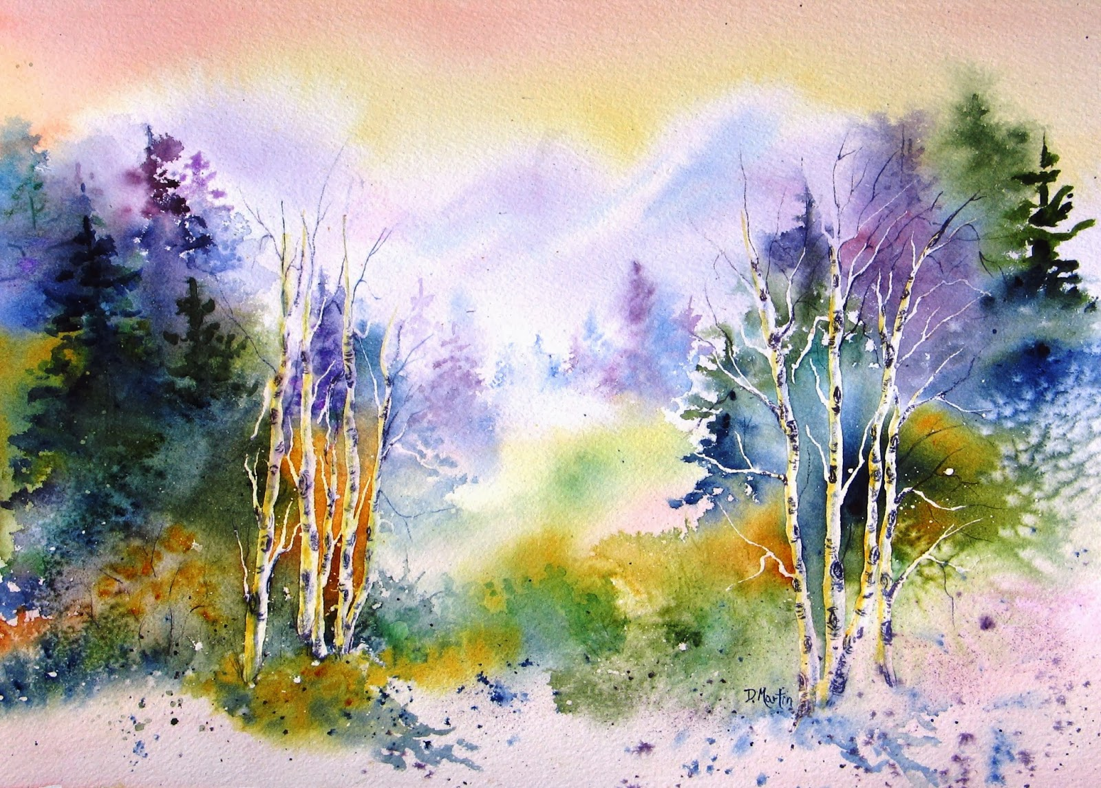 Landscape Elements in Watercolor