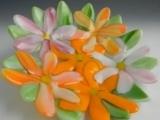 """EC-09-10/17/24 Glass Fusing"""" Summer Blossom Glass Bowl"""""""