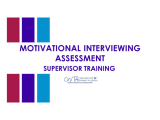 Motivational Interviewing (SUPERVISORS)