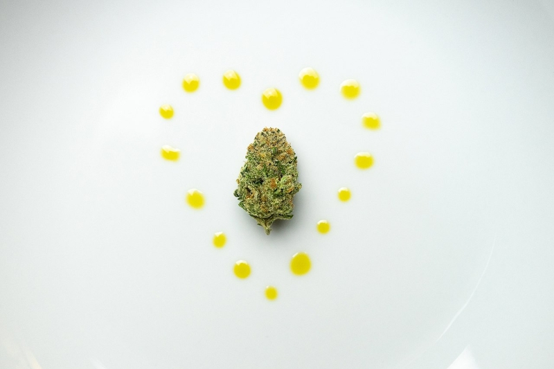 Original source: https://upload.wikimedia.org/wikipedia/commons/thumb/4/48/Nug-and-CBD-oil-Heart-on-Plate-by-workwithsherpa.jpg/1280px-Nug-and-CBD-oil-Heart-on-Plate-by-workwithsherpa.jpg