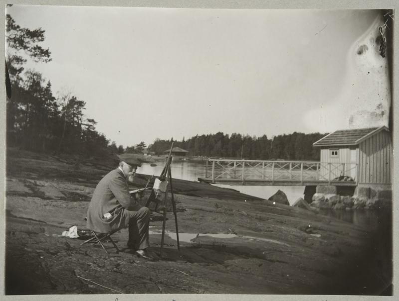 Original source: https://upload.wikimedia.org/wikipedia/commons/7/75/Photograph_of_Adolf_von_Becker_painting_outdoors.jpg