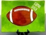 Football Platter/Pottery Paint Night