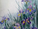 305S19 Iris Torn Cotton Paper Art for Beginners