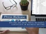 Writing + News Press Releases: Part of the Certificate in Business Writing
