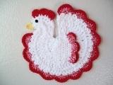 Arts & Crafts:  Crochet - Spring Chicken Hotpad