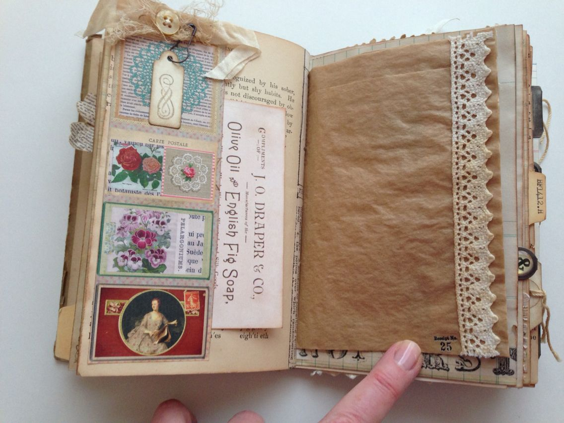 Romantic, Vintage Garden Themed Memory Book And Junk Journal
