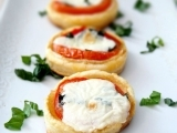 Goat Cheese Tart with Caprese Salad