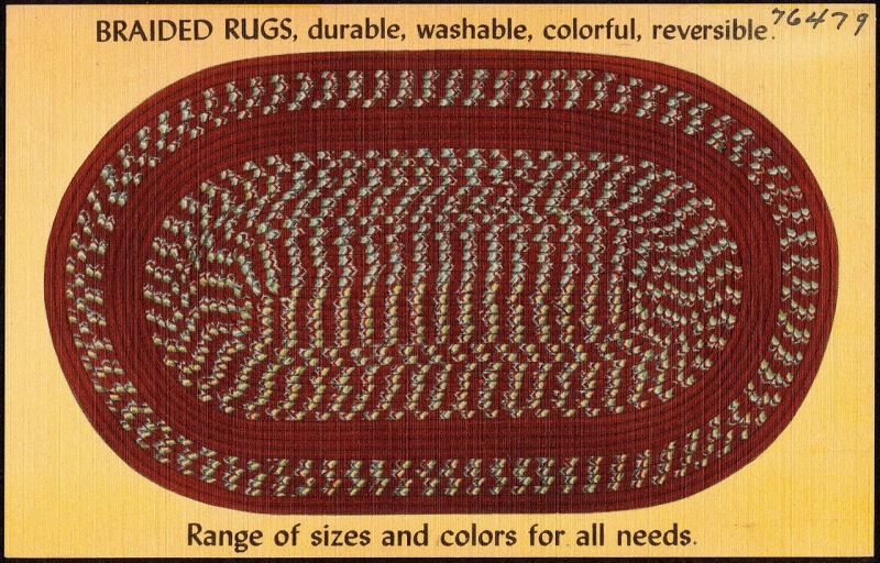 Original source: https://upload.wikimedia.org/wikipedia/commons/thumb/2/29/Braided_rugs%2C_durable%2C_washable%2C_colorful%2C_reversible._Range_of_sizes_and_colors_for_all_needs_%2876479%29.jpg/1280px-Braided_rugs%2C_durable%2C_washable%2C_colorful%2C_reversible._Range_of