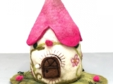 Needle Felt Fairy Houses