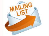 Adding to mailing list