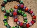 Polymer Clay Beaded Bracelets