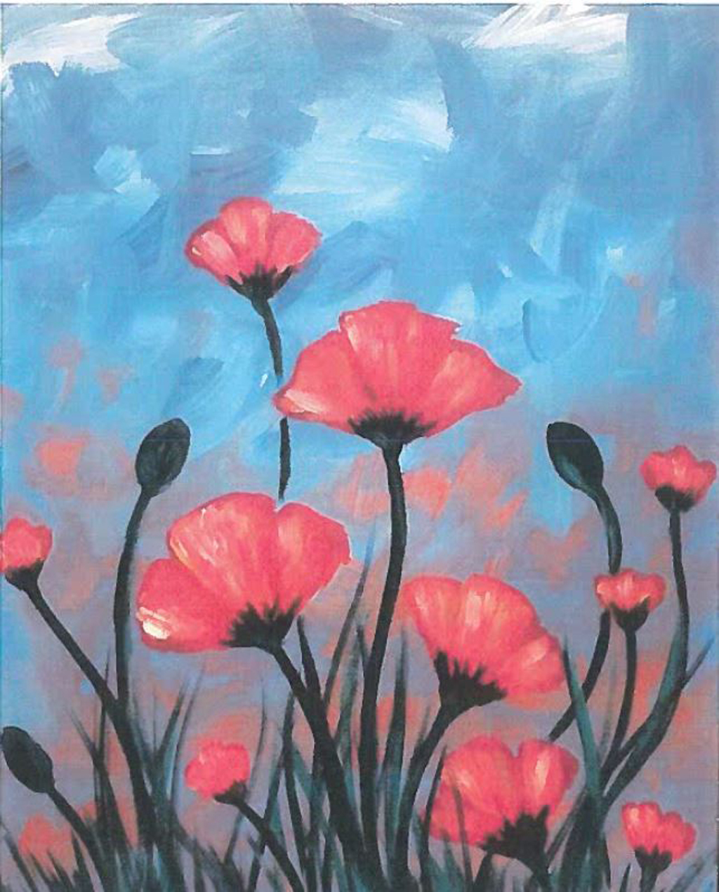Paint and Mingle Poppies Spring 2019