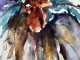 Chickens in Watercolor