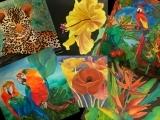 "E-04-29 Fine Art Silk Painting ""Summer Collection"""