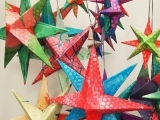 308F17 3D Watercolors Stars Ornament
