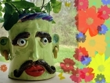 """E-05-21 Ceramics Handbuilding """" Headful of Flowers"""""""