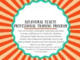 Behavioral Health Professional Training & Certificate Program (BHP) SAT NOV 6 &13