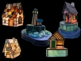 """EC-09-1/26 Stained Glass """" Night Light of Elegance """""""