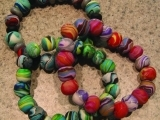 Polymer Clay Beaded Bracelet - Child (accompanying an adult)