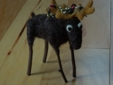 Mr. Chris-Moose tangled with a Christmas Tree! (Needle Felting)