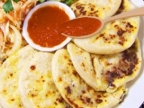 Pupusas with Slaw and Salsa