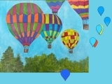 "E-05-07 Acrylic painting ""Up, Up and Away"""