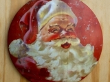 SANTA CHARGER PLATE PAINTING