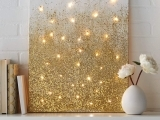 DIY Lighted Constellation Canvas