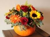 Pumpkin Vase: Fall Arrangement