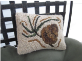 Beginner Rug Hooking: Maine Balsam Pine Cone Pillow