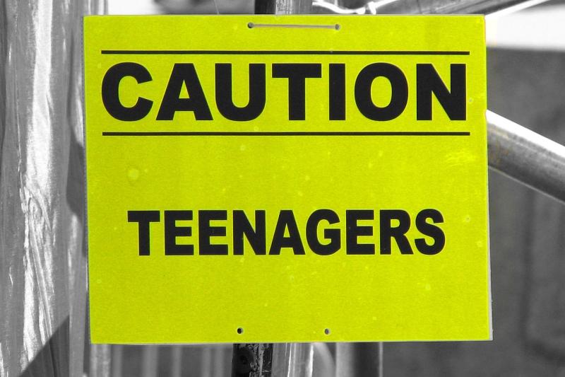 Original source: https://upload.wikimedia.org/wikipedia/commons/thumb/5/59/Caution_Teenagers_4889126077.jpg/1280px-Caution_Teenagers_4889126077.jpg