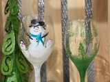 Holiday Wine Glass Painting @11