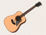 Original source: http://www.wikihow.com/images/8/85/Draw-an-Acoustic-Guitar-Step-15.jpg