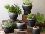 Clay Garden Planters and Garden Sculpture