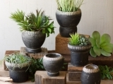 Clay Garden Planters and Garden Sculpture