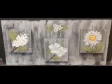 Arts and Crafts with Michelle: White Floral Plaque