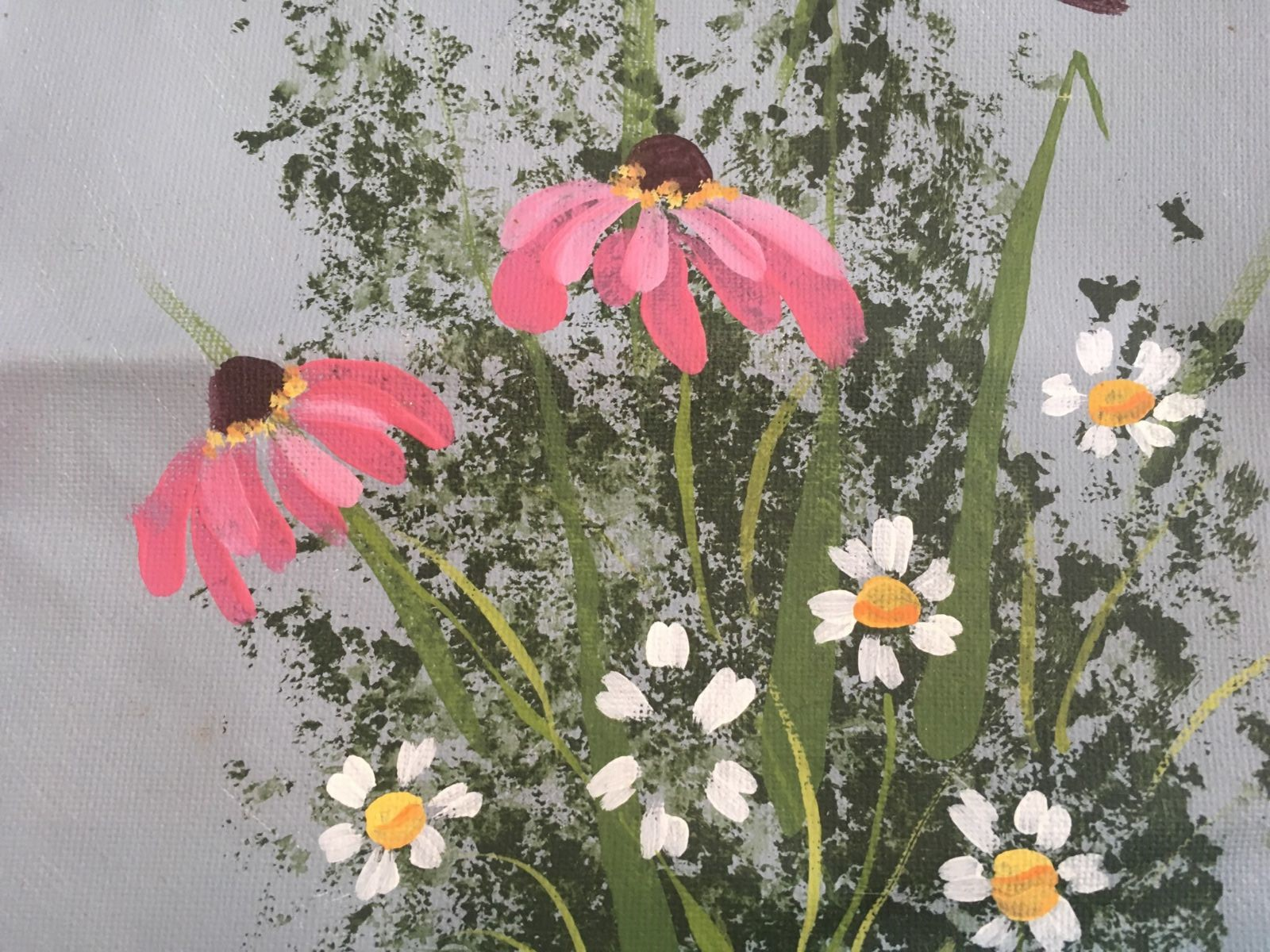 Flower Painting: Coneflowers and Daisies