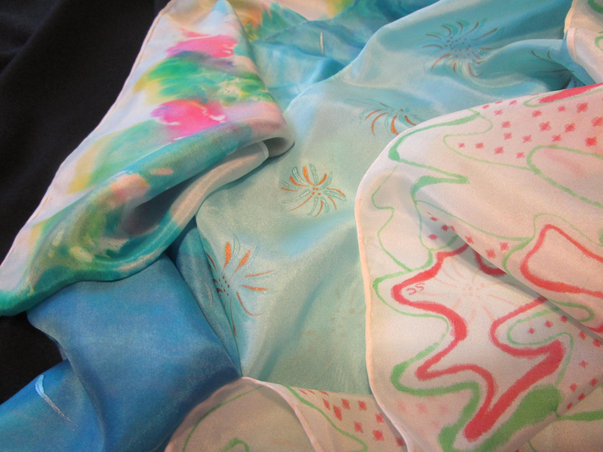 Japanese Shibori Silk Scarves Class